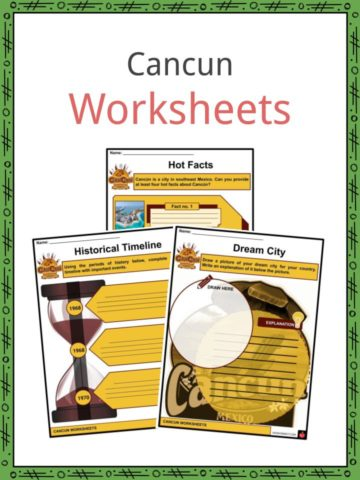Cancún Worksheets