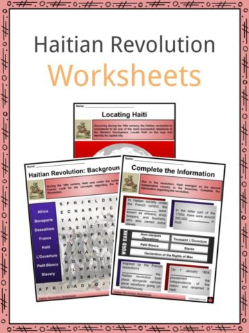 Haitian Revolution Worksheets