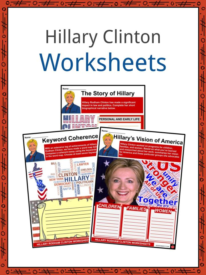Hillary Clinton Worksheets