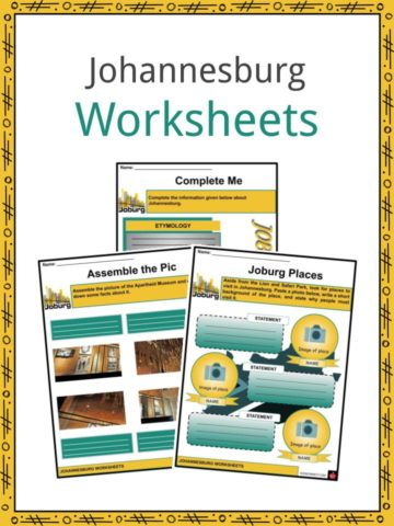 Johannesburg Worksheets