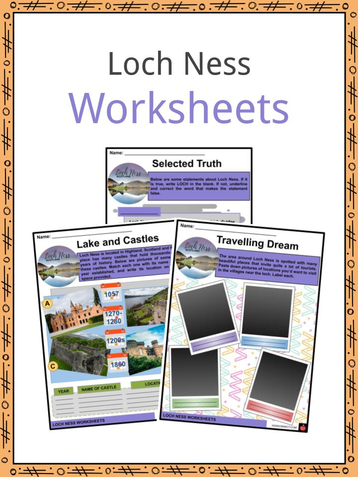 Loch Ness Worksheets