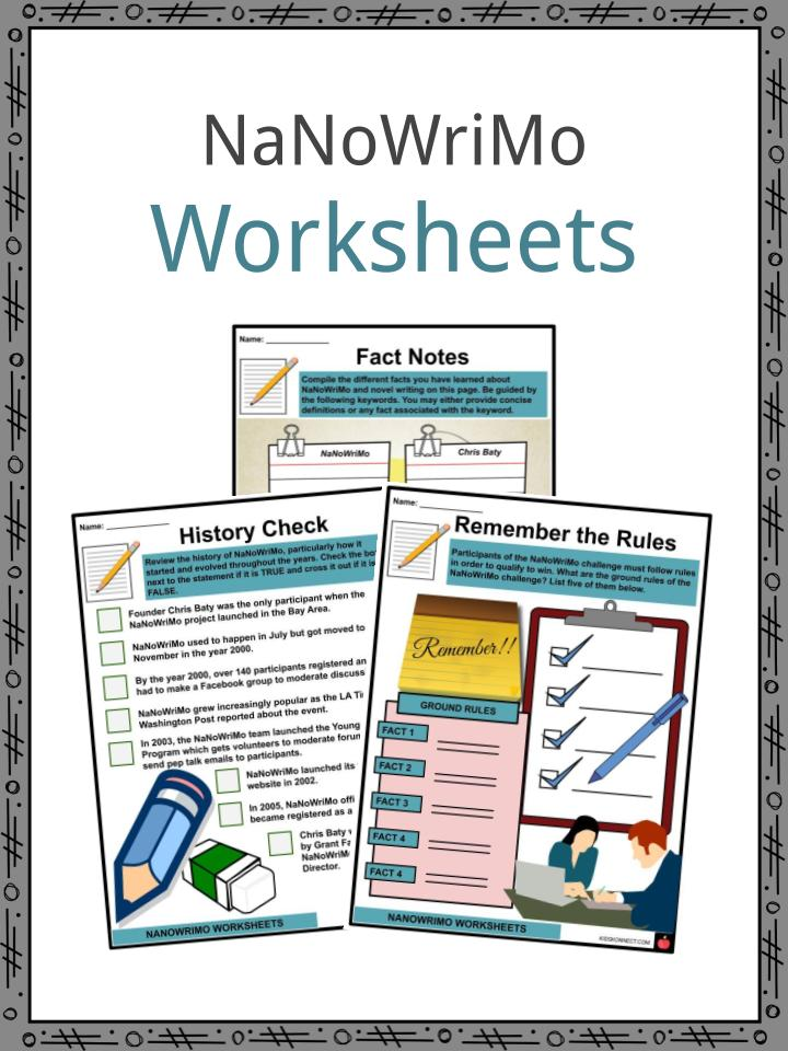 NaNoWriMo Worksheets