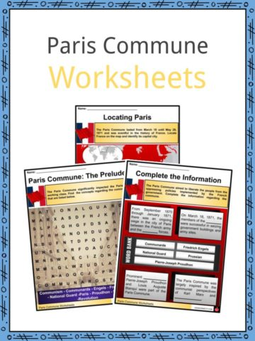 Paris Commune Worksheets