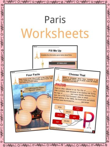 Paris Worksheets