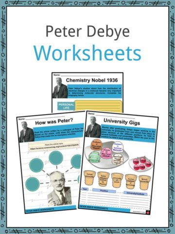 Peter Debye Worksheets