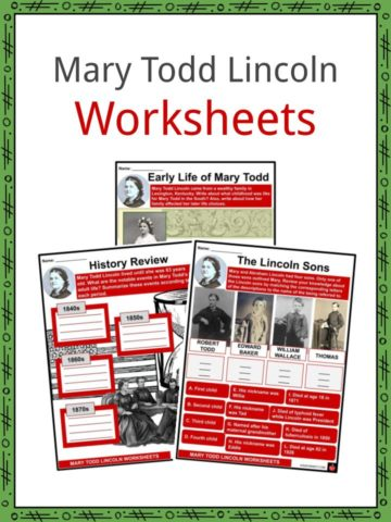Mary Todd Lincoln Worksheets