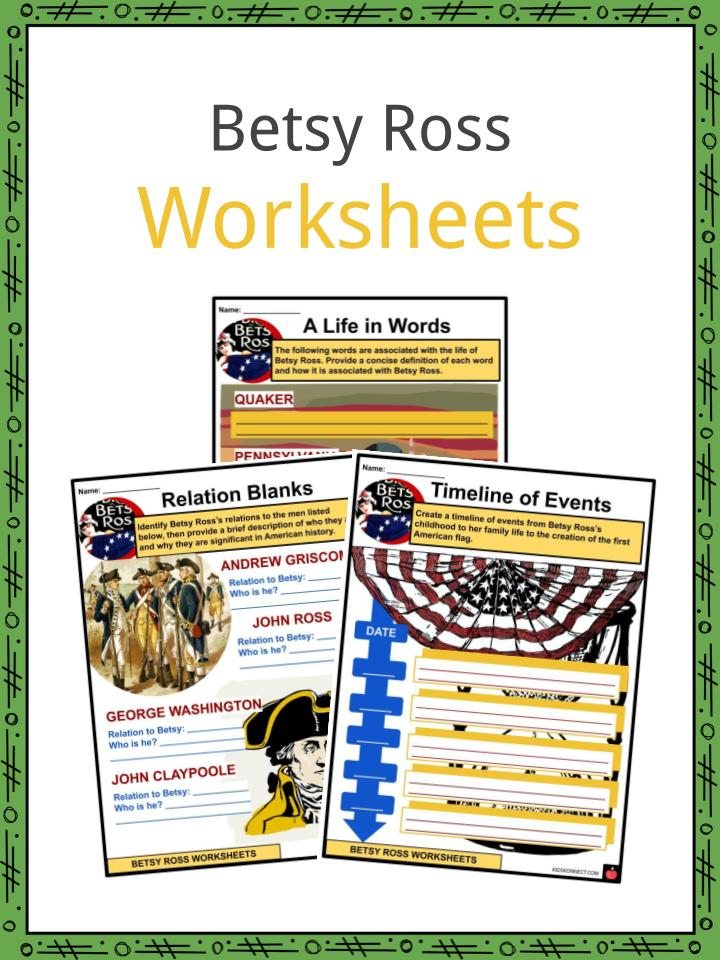 Betsy Ross Worksheets