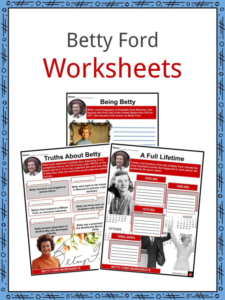 Betty Ford Worksheets