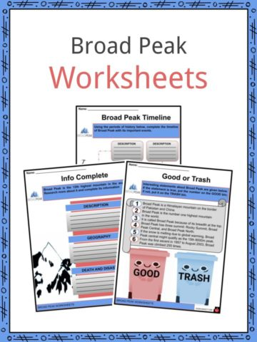 Broad Peak Worksheets