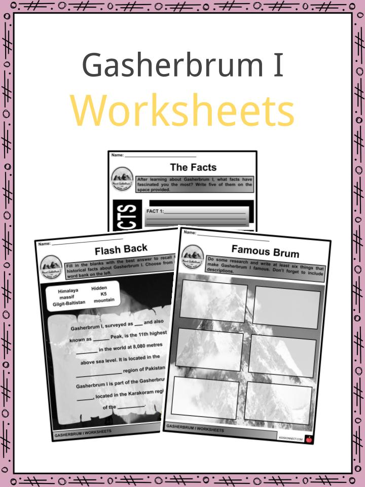 Gasherbrum I Worksheets