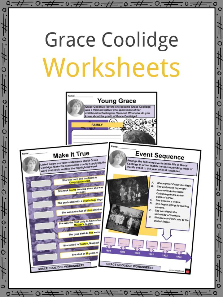 Grace Coolidge Worksheets