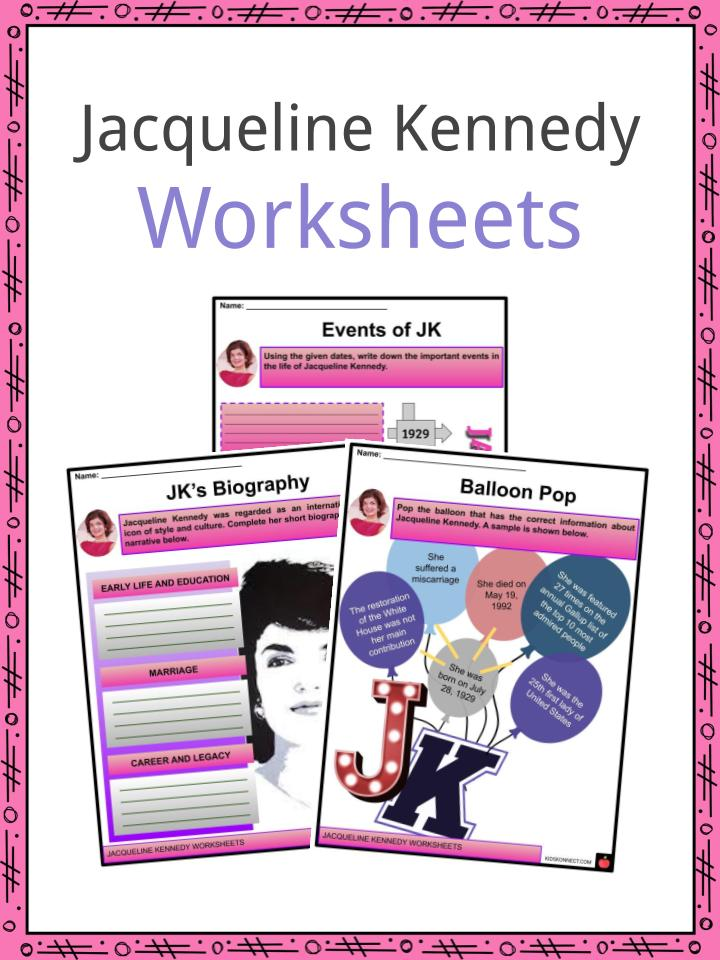 Jacqueline Kennedy Worksheets