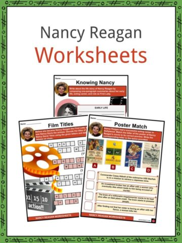 Nancy Reagan Worksheets