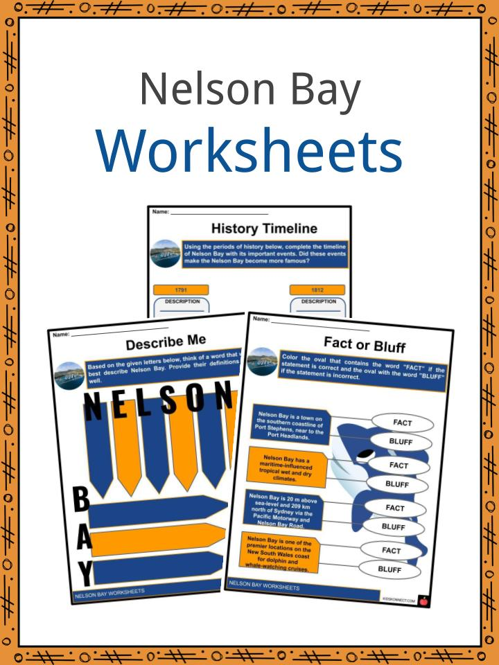 Nelson Bay Worksheets