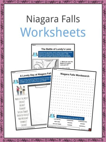 Niagara Falls Worksheets