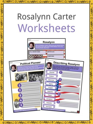 Rosalynn Carter Worksheets