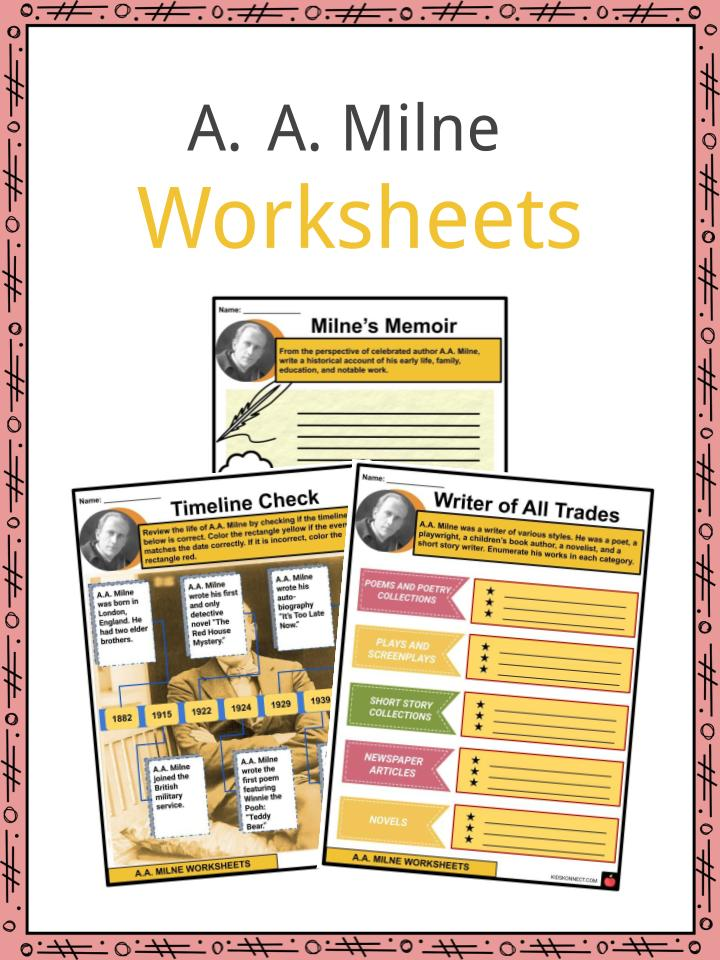 A. A. Milne Worksheets