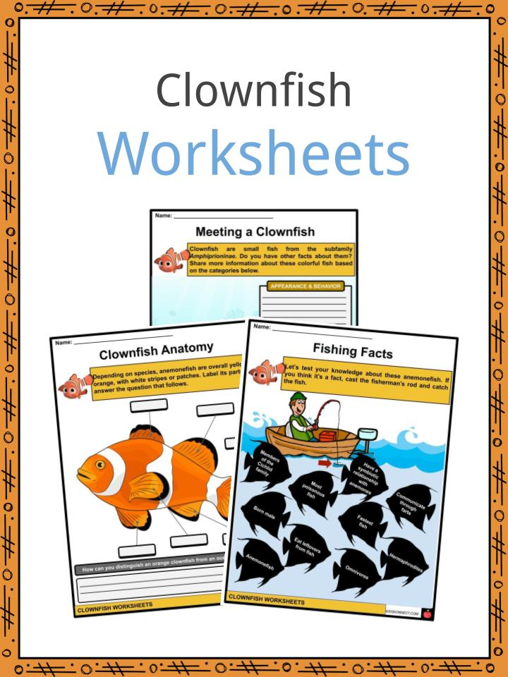 Clownfish Worksheets