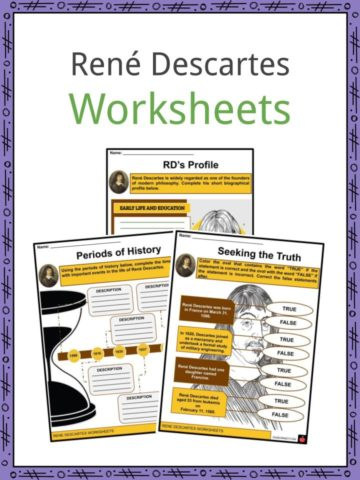Rene Descartes Worksheets
