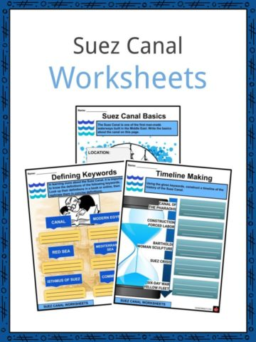 Suez Canal Worksheets
