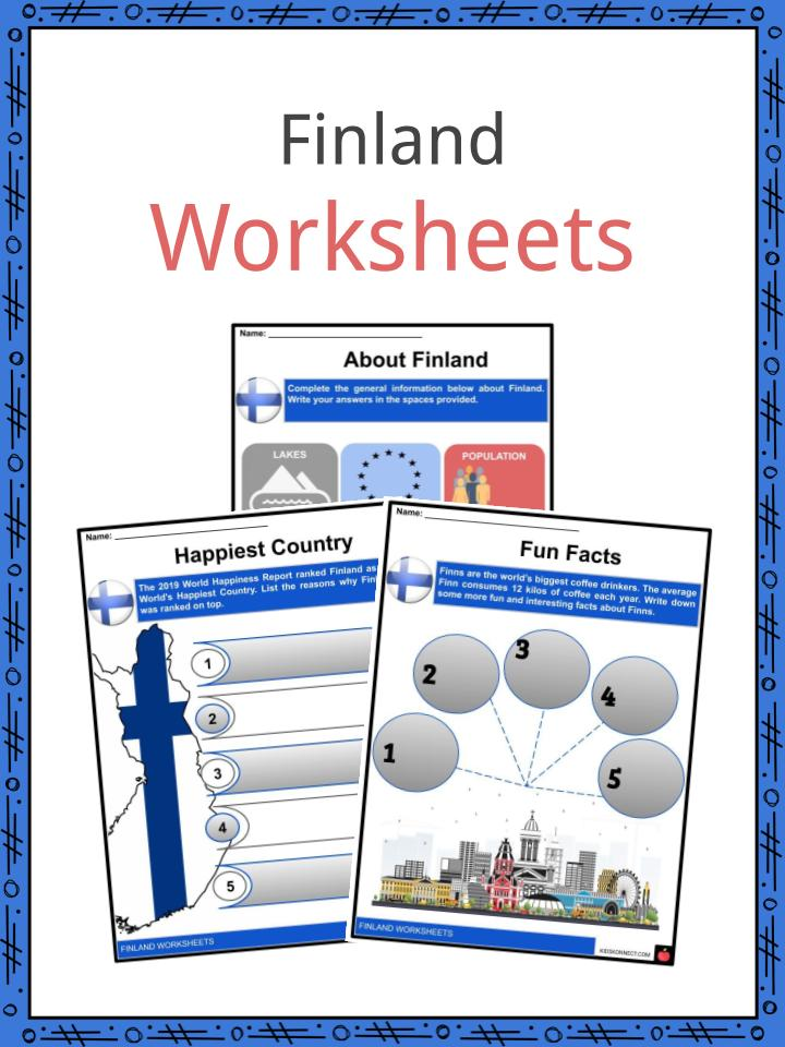Finland Worksheets