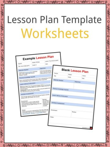 Lesson Plan Template Worksheets