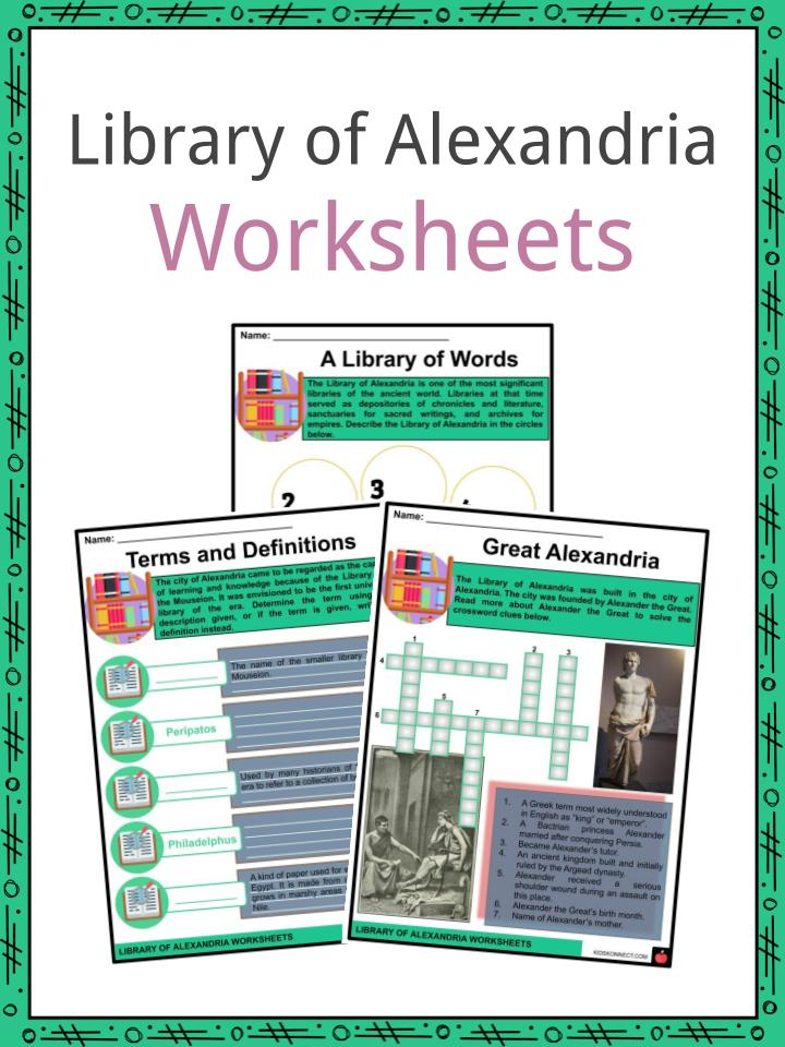 Library of Alexandria Worksheets