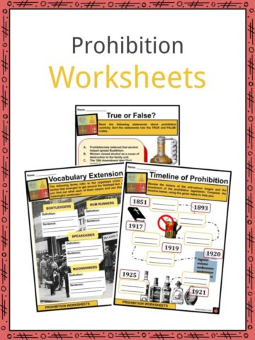 Prohibition Worksheets