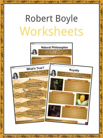Robert Boyle Worksheets