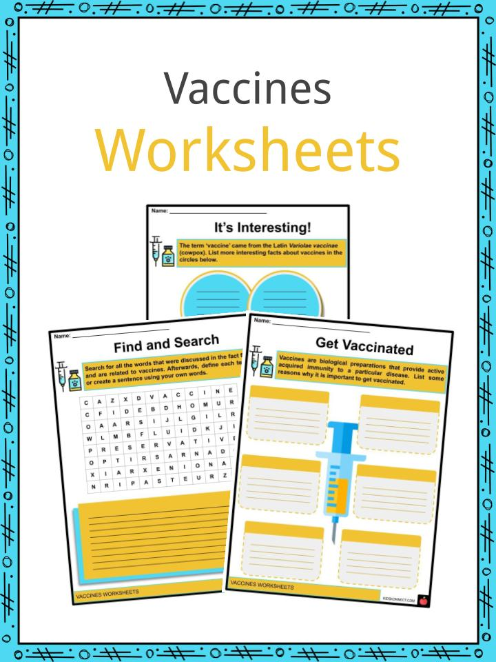 Vaccines Worksheets