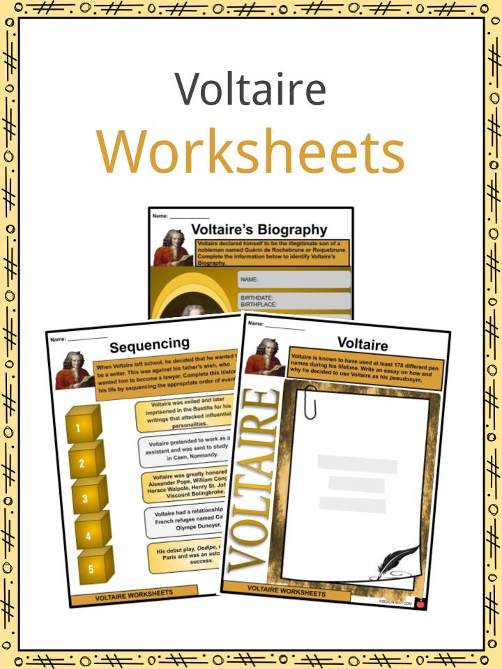 Voltaire Worksheets