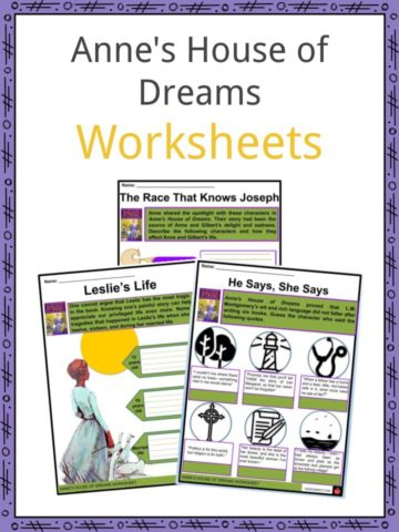 Anne's House of Dreams Worksheets