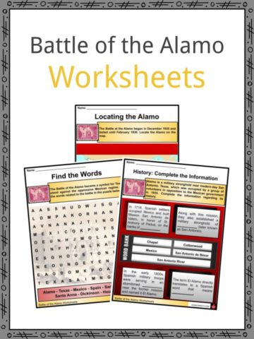 Battle of the Alamo Worksheets