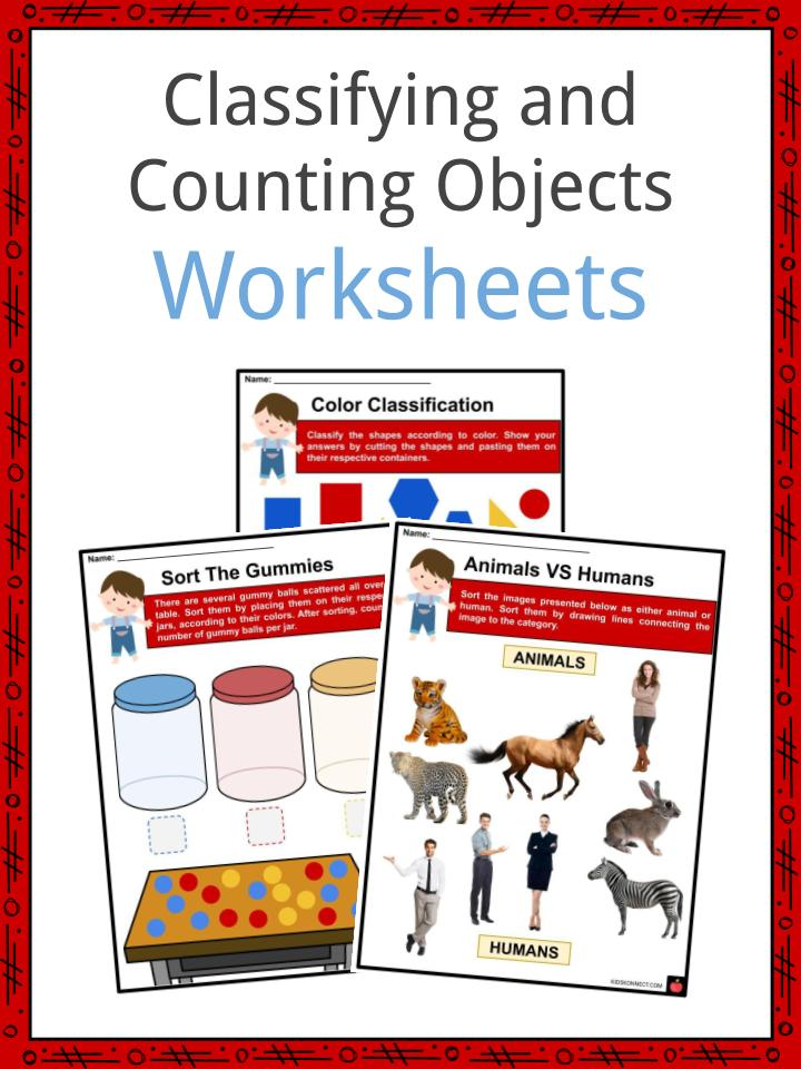 Classifying and Counting Objects Worksheets