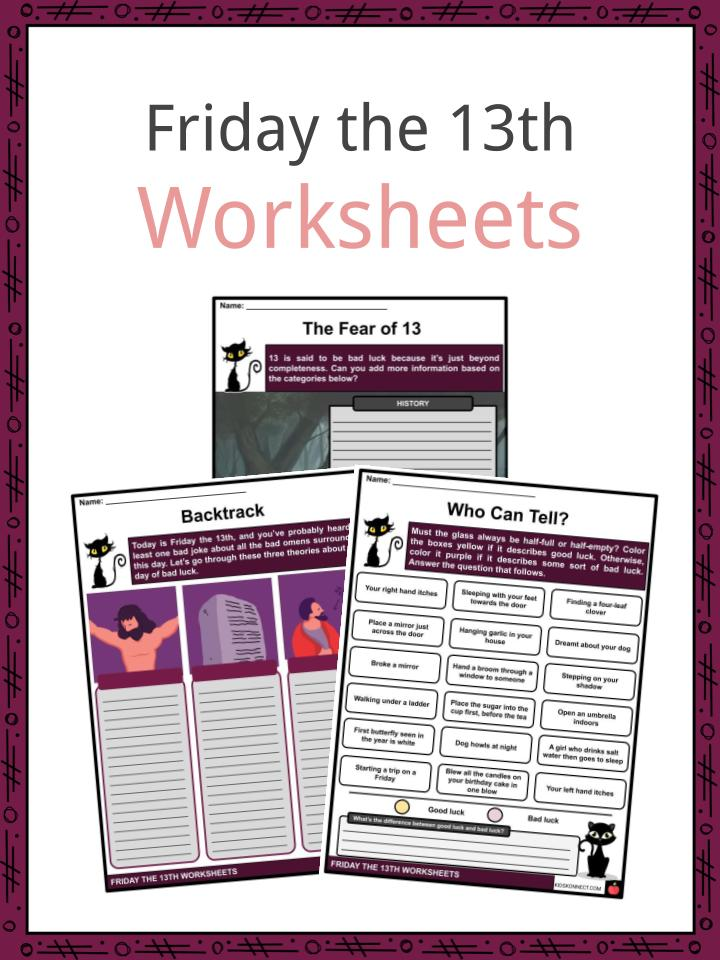 Friday the 13th Worksheets