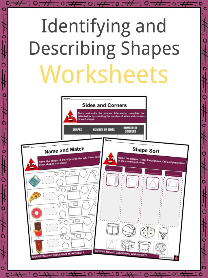 Identifying and Describing Shapes Worksheets