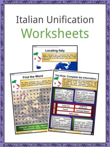Italian Unification Worksheets