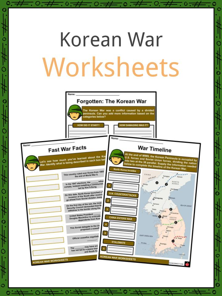 Korean War Worksheets
