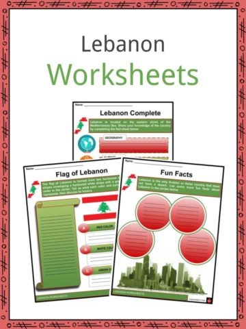 Lebanon Worksheets