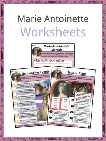 Marie Antoinette Worksheets