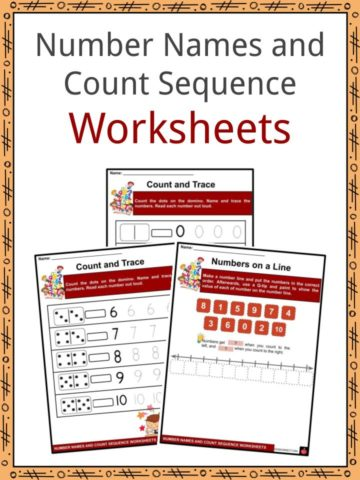 Number Names and Count Sequence Worksheets