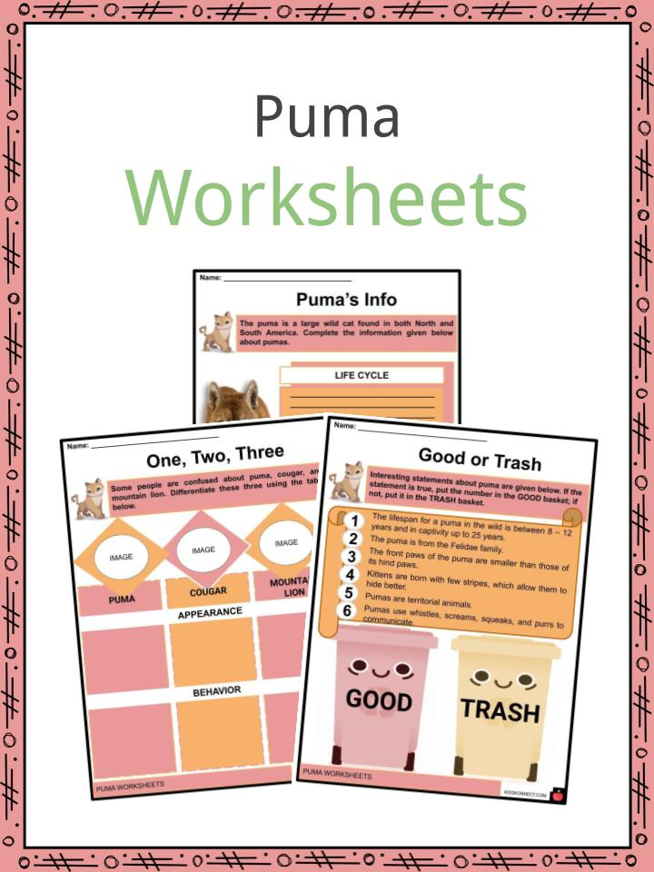 Puma Worksheets