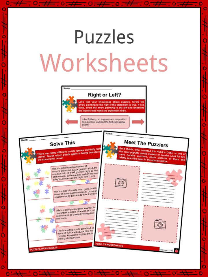 Puzzles Facts Worksheets Brief History Types For Kids