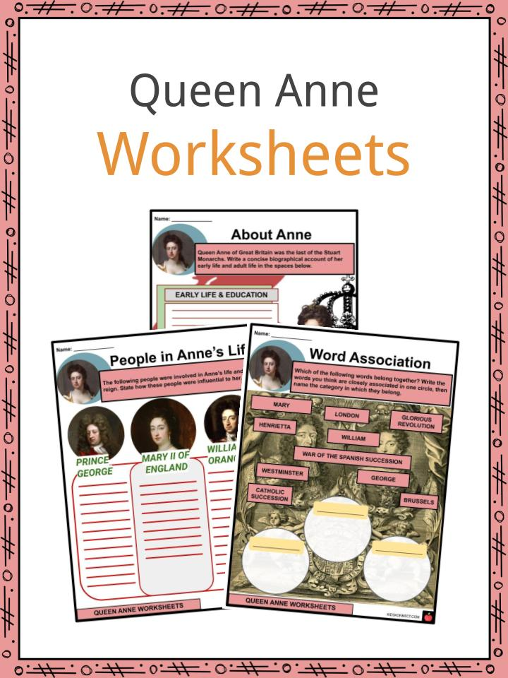 Queen Anne Worksheets