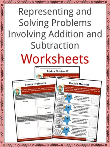 Representing and Solving Problems Involving Addition and Subtraction Worksheets