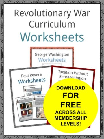 Revolutionary War Curriculum Worksheets
