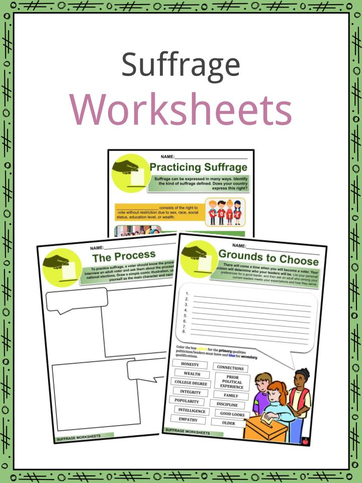 Suffrage Worksheets