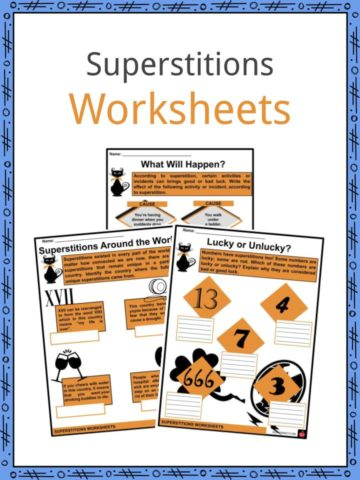 Superstitions Worksheets