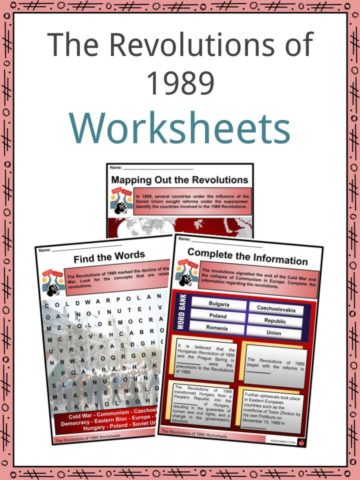 The Revolutions of 1989 Worksheets
