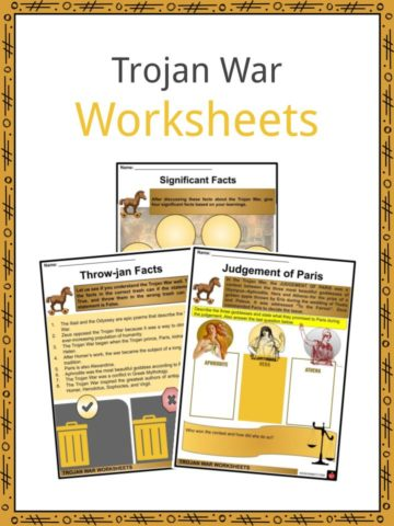 Trojan War Worksheets